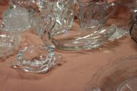 Assorted press glass pieces - 6