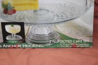 Wexford 2-piece footed cake set in box - 4