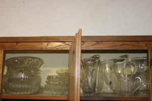 Assorted glass serving pieces