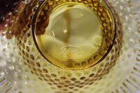 Fenton amber hobnail basket with applied handle - 5