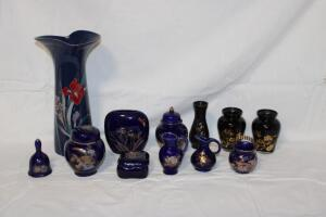 Cobalt blue oriental pieces