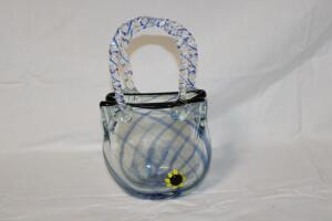 Art glass basket