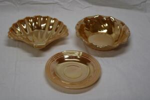 Fire King lusterware saucer
