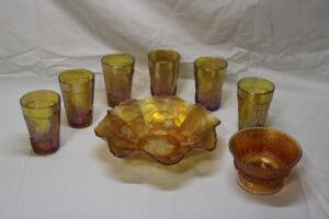 Carnival Glass pieces