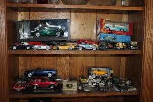 Large assortment of model cars