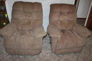 Pair of Best Chair, Inc. recliners