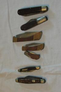 Assortment of pocket knives