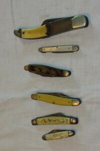Well used pocket knives