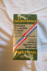 Remington Thunderbolt 22 long rifle, high speed rim fire cartridges