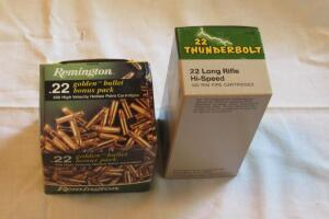 Remington Thunderbolt 22 long rifle 500 +/- rounds, high speed rim fire cartridges, 500 +/- rounds.