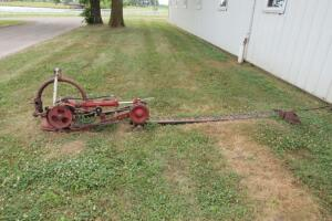 Red 3-point hitch sickle bar mower