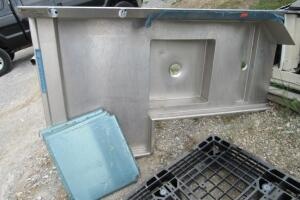 Stainless steel sink, like new, slight cosmetic damage