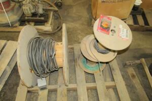 Heavy duty electrical wire, partial roll