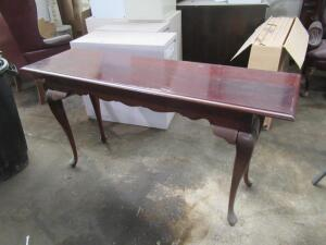 Sofa table, needs tightened