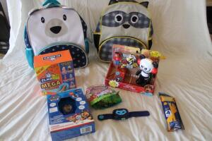 NIB Children's backpacks, Elmer's Glue Mega Slime kits