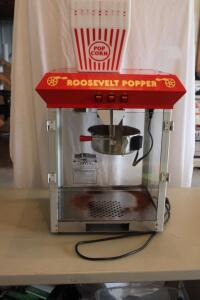 Great Northern Co. Roosevelt Popper popcorn machine, incomplete, needs cleaning