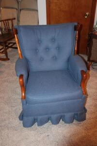 Upholstered swivel rocker