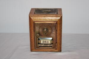 Wooden post office box bank