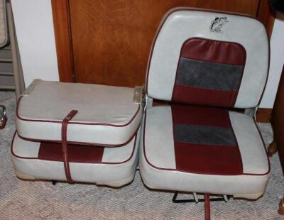 Pair of swivel boat seats