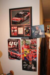 Carl Edwards framed 2007 Nascar Busch Series champion