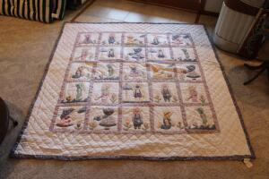 Sun Bonnet Sue and Overall Bill quilt