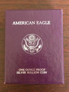 1989 Silver American Eagle One Dollar Coin