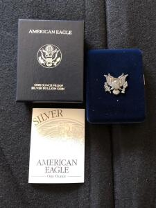 1995 Silver American Eagle proof