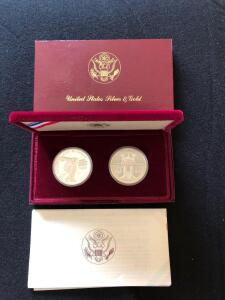 1983 Olympic silver coin set