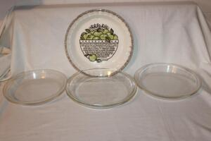 Pyrex and Anchor Hocking pie plates