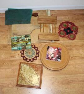 Cutting boards, trivets