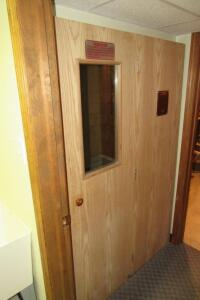 "Hyundai Porta Sauna, 71"" T x 37"" D x 47"" W, condition unknown"