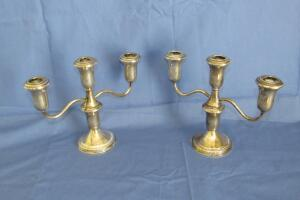 Lord Silver sterling weighted candelabras
