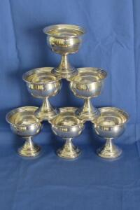 NS Co. sterling weighted sorbet bowls