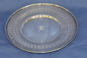 Sterling silver decorative plate