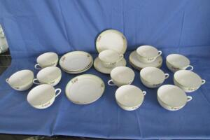 Meito China hand painted in Japan cups and saucers