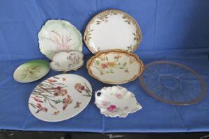 Limoges, Nippon and other decorative plates