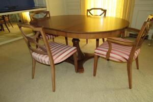 Single pedestal dining room table