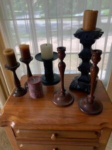 Assorted candlesticks