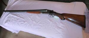 Ithaca 12 ga. side by side double barrel shotgun