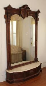 Antique Pier mirror with marble base