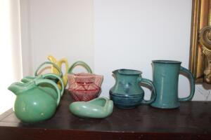 Pottery pitchers and vases