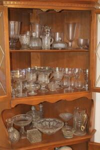Pressed glass and other pieces