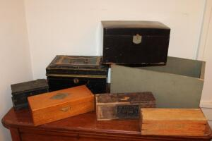 Wooden and metal boxes