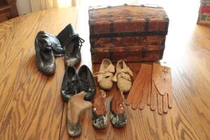 Vintage ladies and children's shoes