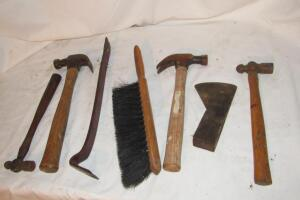 Wooden hammers, claw and ball peen