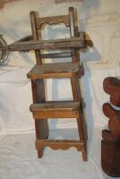Wooden doll high chair - 3