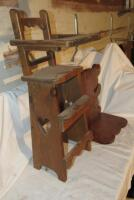 Wooden doll high chair - 4