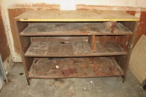 Metal shelf with Formica top