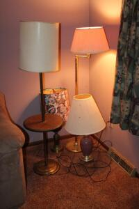 2 Floor lamps and 2 table lamps