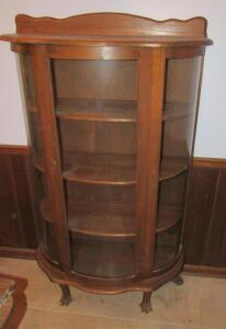 Curved front china hutch